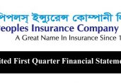 Un-Audited First Quarter Financial Statements-2019 of Peoples Insurance Company Ltd