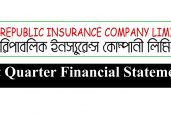 First Quarter Financial Statements oF Republic Insurance Co. Ltd