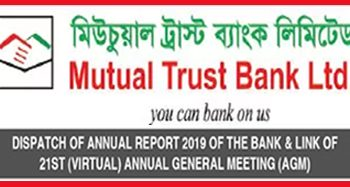 DISPATCH OF ANNUAL REPORT 2019 OF THE BANK & LINK OF 21ST (VIRTUAL) ANNUAL GENERAL MEETING (AGM)