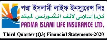 Third Quarter Financial Statements-2020 Of Padma Islami Life Ins. co.