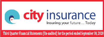 Third Quarter Financial Statements-2020 Of City General Insurance Company Limited
