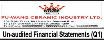 Un-audited Financial Statements (Q1) Of Fu-Wang Ceramic Industry Ltd.