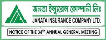 Notice of the 34th AGM Of Janata insurance co. ltd.