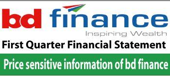 price sensitive information of bd finance