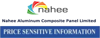 price sensitive information nahee aluminum compostie panel ltd.