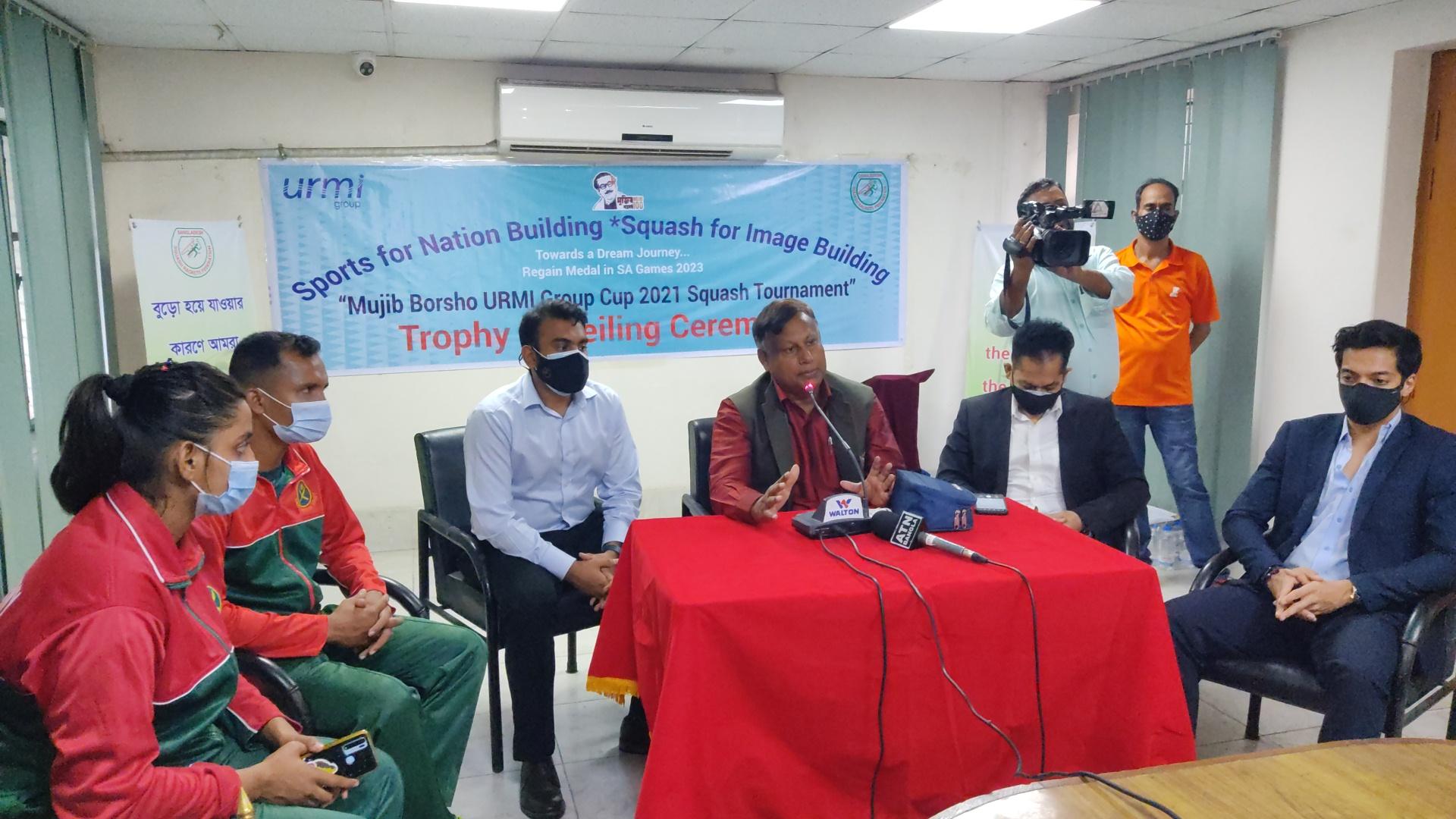 আগামীকাল শুরু হচ্ছে 'মুজিব বর্ষ উর্মী গ্রুপ স্কোয়াশ প্রতিযোগীতা ২০২০-২১'