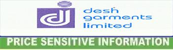 price sensitive information of desh garments