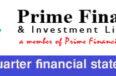 un-audited 1st quarter financial statement of prime finance & investment ltd.